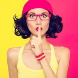 Donne alla moda il segreto Fotografie Stock Libere da Diritti