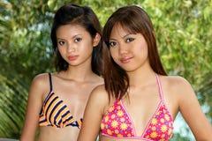 Donne asiatiche Fotografie Stock
