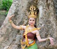 Donne asiatiche in costume tradizionale Immagini Stock Libere da Diritti