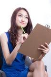 Donne asiatiche dell'ufficiale Immagini Stock