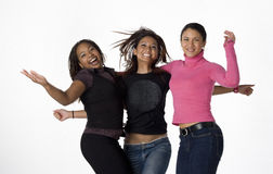 Donne asiatiche, nere e del Latino giovani Immagine Stock Libera da Diritti