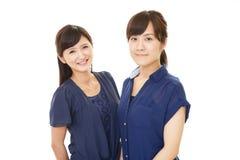 Donne asiatiche sorridenti immagine stock