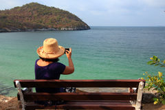 Donne asiatiche turistiche Fotografia Stock Libera da Diritti