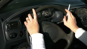 Donne in automobile Fotografie Stock Libere da Diritti