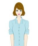Donne ballonzolate dei capelli royalty illustrazione gratis