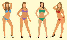 Donne in bikini Immagine Stock