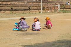 Donne birmane Myanmar Immagini Stock