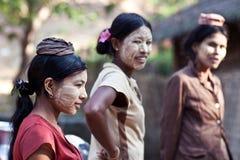 Donne Burmese immagini stock