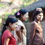 Donne Burmese fotografia stock libera da diritti