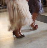 Donne che ballano i piedini Immagine Stock