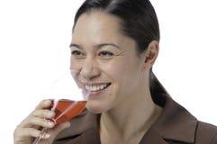 Donne che bevono vino Fotografia Stock Libera da Diritti