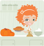 Donne che cucinano per il ringraziamento Fotografia Stock Libera da Diritti