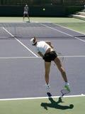 Donne che giocano tennis Fotografia Stock