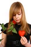 Donne con cuore Immagini Stock