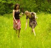 Donne con i fiori Immagini Stock Libere da Diritti