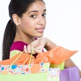 Donne con i sacchetti di acquisto Immagini Stock Libere da Diritti