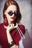 Donne con il sacchetto della spesa Immagine Stock