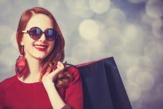 Donne con il sacchetto della spesa Fotografia Stock Libera da Diritti