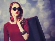Donne con il sacchetto della spesa Fotografie Stock