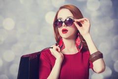 Donne con il sacchetto della spesa Immagini Stock