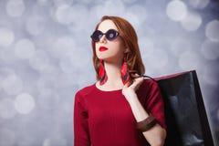 Donne con il sacchetto della spesa Immagine Stock Libera da Diritti