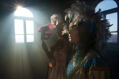 Donne in costume medioevale Fotografie Stock