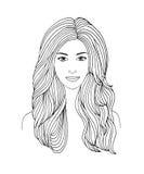 Donne dai capelli lunghi Immagine Stock