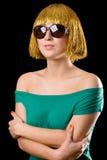 Donne dei capelli dell'oro Immagine Stock