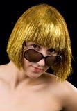 Donne dei capelli dell'oro Immagini Stock