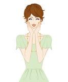 Donne dei capelli di scarsità, sorridenti illustrazione di stock
