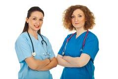 Donne dei medici ospedalieri Fotografia Stock