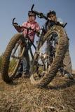 donne dei motociclisti Immagini Stock