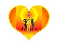 donne del cuore Fotografia Stock
