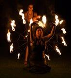 Donne del fuoco Fotografia Stock Libera da Diritti