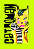 Donne del gatto Immagine Stock Libera da Diritti