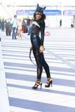 Donne del gatto Fotografie Stock