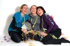 Donne del partito Fotografie Stock Libere da Diritti