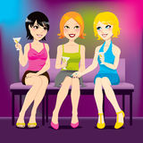 Donne del partito del Martini Fotografia Stock