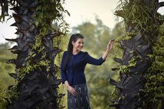 Donne del tempo di agricoltura di estate di libertà Fotografia Stock