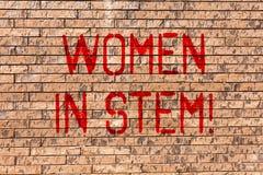 Donne del testo di scrittura di parola in gambo Concetto di affari per lo scienziato Research di matematica di ingegneria di tecn royalty illustrazione gratis