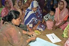 Donne dell'abitante del Bangladesh di progetto di microcredito Fotografie Stock