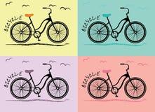 Donne della bicicletta Fotografia Stock