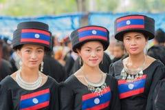 Donne della tribù locale dell'alpinista Fotografia Stock