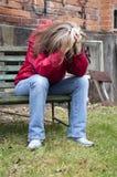 Donne depresse Immagini Stock