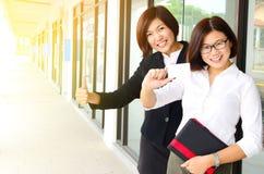Donne di affari asiatiche sicure Fotografia Stock Libera da Diritti