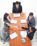 Donne di affari che agitano le mani in una riunione Fotografia Stock Libera da Diritti