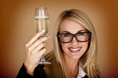 Donne di affari che celebrano. immagini stock libere da diritti