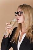 Donne di affari che celebrano. fotografie stock