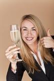 Donne di affari che celebrano. immagine stock libera da diritti
