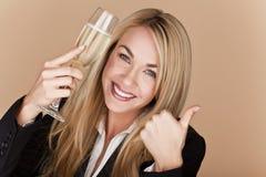 Donne di affari che celebrano. immagine stock